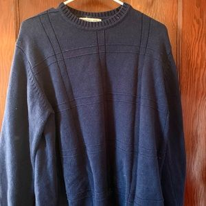 Men's Navy Blue Geoffrey Beene Sweater
